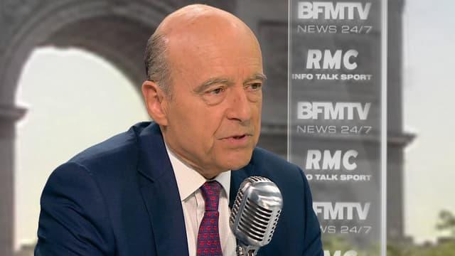 Alain Juppé, mercredi, sur BFMTV et RMC.