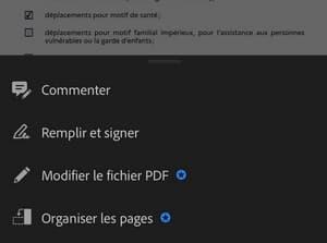 Adobe Acrobat Reader comprend une fonctionnalité pour signer un document en ligne.