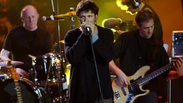 Bertrand Cantat, Denis Barthe et Jean-Paul Roy, membres du groupe Noir Désir, en 2002, aux Victoires de la musique.