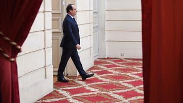 François Hollande à l'Elysée, le 12 avril 2016.