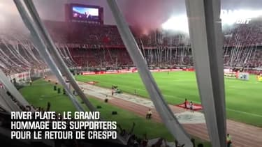 River Plate : Le grand hommage des supporters pour le retour de Crespo