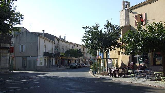Vue d'Aigues-Vives, dans le Gard