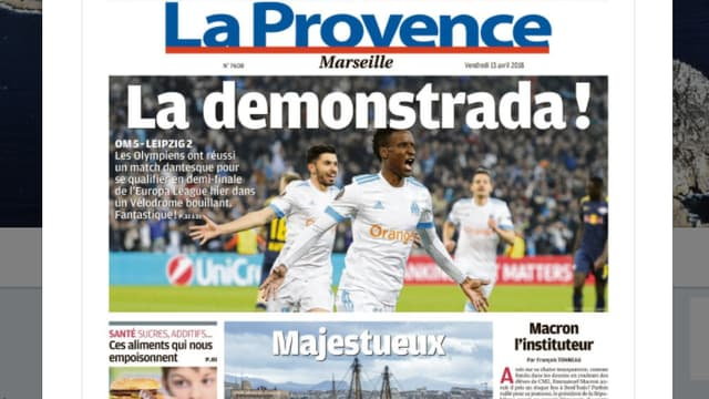 La Une de La Provence