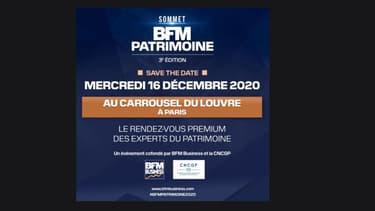 Mercredi 16 décembre 2020, BFM BUSINESS présentera pour la troisième année le « SOMMET BFM PATRIMOINE ».