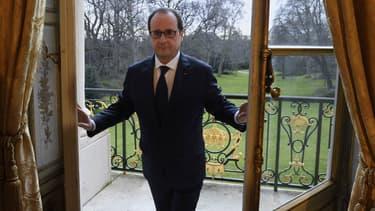 François Hollande à l'Elysée février 2015.