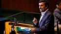 Les délégations des Etats-Unis, de la France et d'autres pays occidentaux ont boycotté jeudi le discours de Mahmoud Ahmadinejad au moment où le président iranien prononçait un discours devant l'Assemblée générale annuelle des Nations unies. /Photo prise l