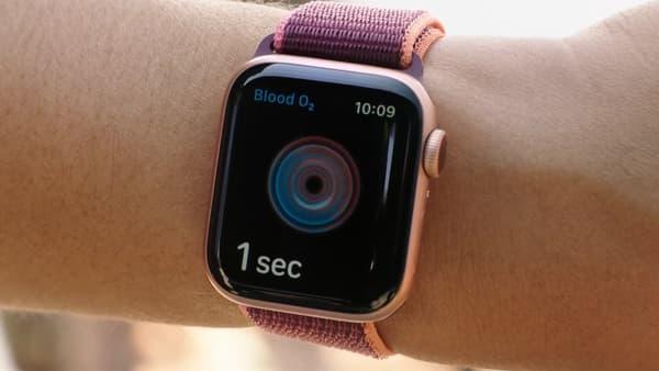 L'Apple Watch Series 6 intègre la mesure du taux d'oxygène dans le sang.