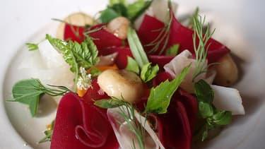 """Un plat servi au Noma, le """"meilleur restaurant du monde"""" à Copenhague."""