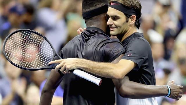 Roger Federer et Frances Tiafoe