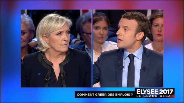 Emmanuel Macron et Marine Le Pen, ce mardi soir