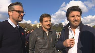 """L'équipe française de """"Top Gear"""": le comédien Philippe Lellouche, le pilote Bruce Jouanny, le journaliste Yann Larret, alias Le Tone."""