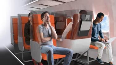 Aviointeriors a imaginé les sièges d'avion adaptés aux conditions sanitaires