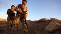Des peshmerga sur une ligne de front au nord de Bagdad, la capitale irakienne, le 9 août 2014.