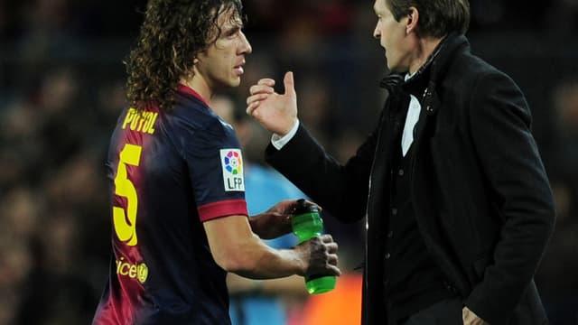 Carles Puyol avec Tito Vilanova