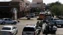 Périmètre bouclé à Tucson, en Arizona, où un homme a ouvert le feu lors d'une réunion publique d'une élue de la Chambre des représentants américaine. Gabrielle Giffords, 40 ans, a reçu une balle dans la tête à bout portant et a été transportée à l'hôpital