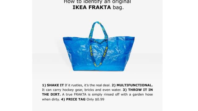 Ikea fournit une notice pour reconnaître l'original parmi les copies.