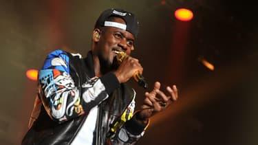 Le chanteur Black M sur la scène du Le Printemps de Bourges en avril 2015