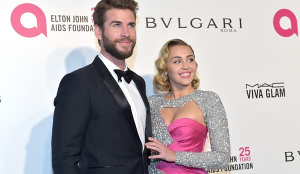 Liam Hemsworth et Miley Cyrus en mars 2018