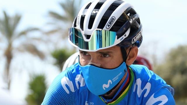 L'Espagnol Alejandro Valverde au départ de la 1re étape du Tour de Catalogne, à Calella, le 22 mars 2021