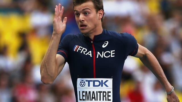 Christophe Lemaitre en demi-finales du 100m aux Mondiaux