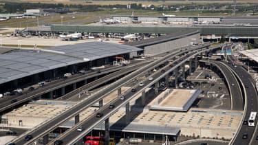 L'aéroport de Roissy-Charles-de-Gaulle au nord de Paris
