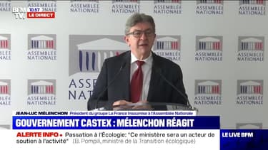 Jean-Luc Mélenchon, lors d'une conférence de presse ce mardi, a réagi à la formation du gouvernement de Jean Castex.