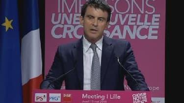 Manuel Valls à Lille, le 15 mai 2014.