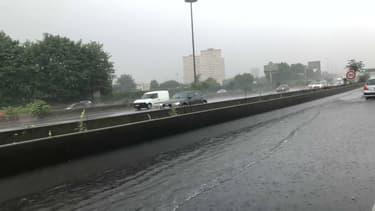Plusieurs routes franciliennes sont inondées ce mardi.