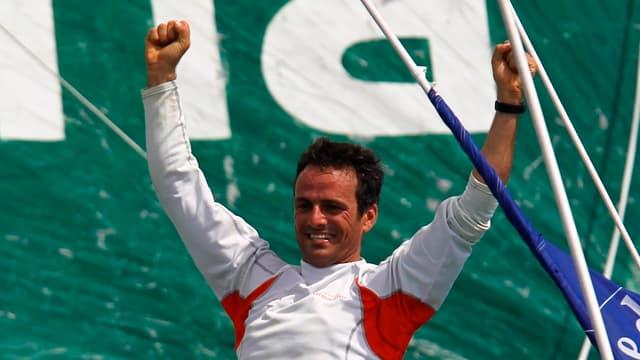 Franck Cammas, lauréat 2010 et tenant du titre de la Route du Rhum.