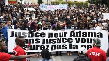 Marche organisée en mémoire d'Adama Traoré à Beaumont-sur-Oise, le 22 juillet 2017