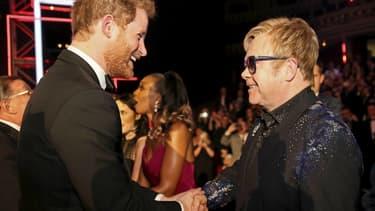 Le Prince Harry et Elton John