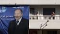 Une affiche à l'effigie du président sortant Abdelaziz Bouteflika, candidat à un 4e mandat, déployée dans le centre-ville d'Alger, le 16 avril.