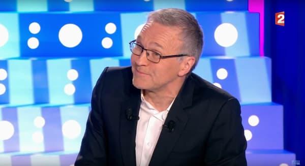 """Laurent Ruquier sur le plateau de l'émission """"On n'est pas couché"""""""