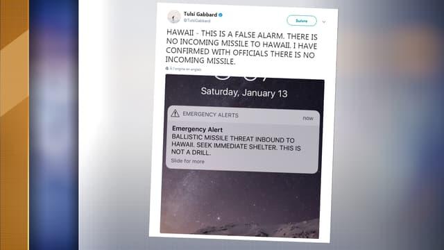 Une fausse alerte a semé la panique à Hawai samedi.