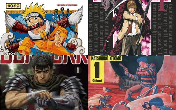 """Naruto"", ""Death Note"", ""Berserk"", ""Akira"""