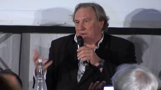 """Gérard Depardieu incarne Dominique Strauss-Kahn, dans le film """"Welcome to New York"""", projeté samedi à Cannes et rendu disponible en VOD le même jour."""