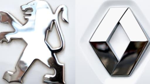 PSA fait mieux que Renault au T1 2014, à la fois en termes de ventes et de progression.