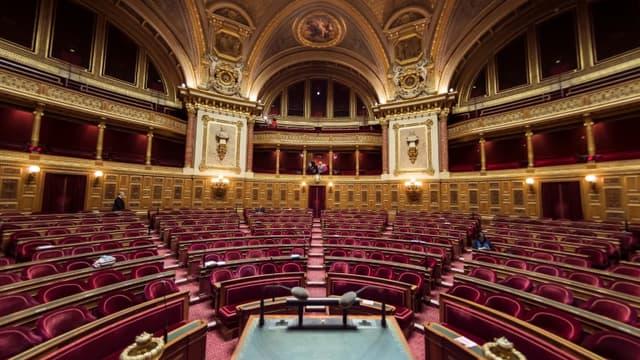 L'hémicycle du Sénat à Paris