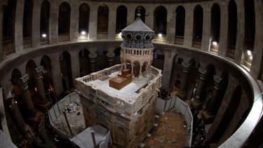 Le Saint-Sépulcre photographié après sa restauration, le 20 mars 2017.