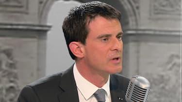Manuel Valls sur BFMTV et RMC, jeudi 26 février.