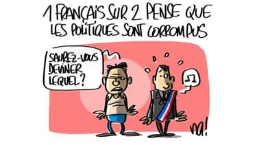 55% des Français pensent que la plupart des politiques sont corrompus.