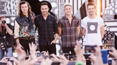 Le groupe One Direction sur scène à New York en août 2015