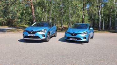 Le Captur hybride rechargeable et la Clio hybride non rechargeable