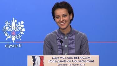 """Najat Vallaud-Belkacem n'a pas vraiment apprécié se voir qualifier de """"khmère rose""""."""