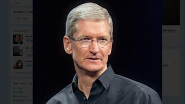 La photo du fil Twitter officiel de Tim Cook, partron d'Apple.