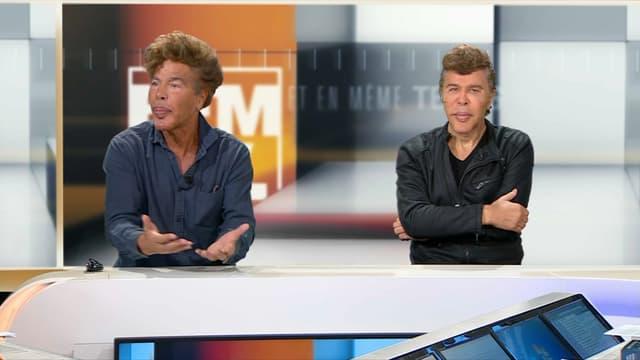 Igor et Grichka ce dimanche à l'antenne de BFMTV.