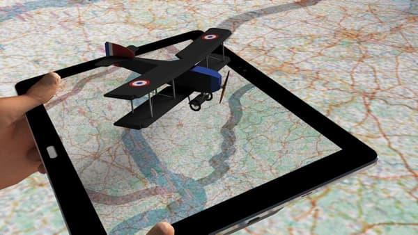 Une centaine d'animations en réalité augmentée ont été intégrées à la carte géante