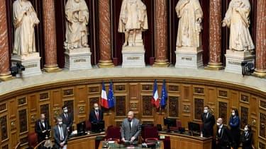Le président du Sénat Gérard Larcher le 13 octobre 2020 au Sénat à Paris