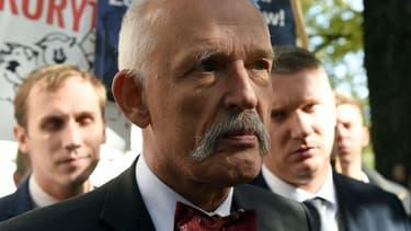 Janusz Korwin-Mikke, ancien député européen polonais, en 2015