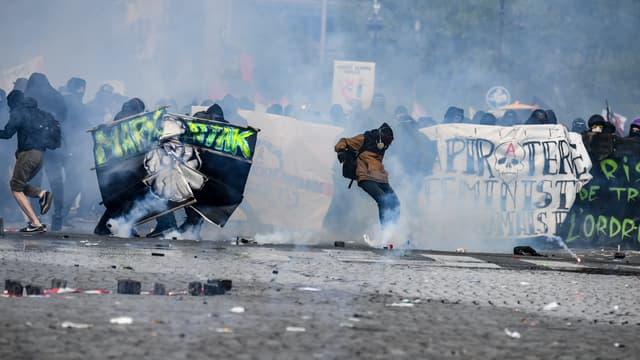 Lors du 1er Mai 2018 à Paris.